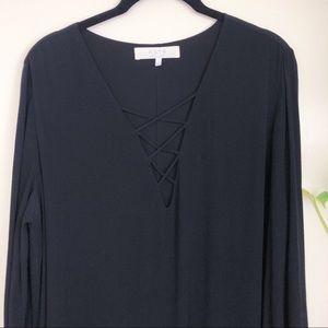 ASTR the label black tunic dress long sleeved L